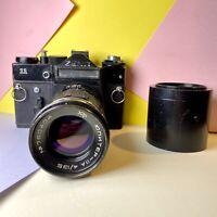 Zenit 11 35mm SLR Film Camera Kit, W/ Jupiter 11A F/4 135mm Lens!  Lomo Vintage