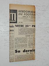 FRANCE FOOTBALL OFFICIEL HEBDOMADAIRE FFF N°415 02/03 1954