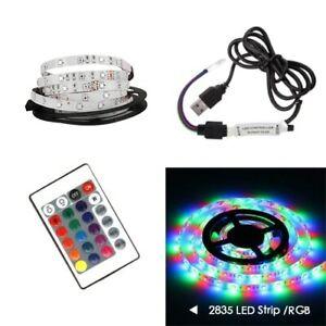 USB LED Strip DC 5V Mini 3Key 24Key Flexible Light 2835 TV Background Lighting