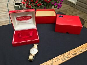 Vintage Mens Girard Perregaux Sea Hawk Gold Filled Watch with box and case