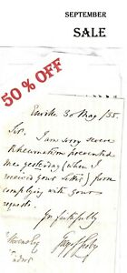 BARON GREY of GROBY: SIGNED LETTER TO WINDSOR 1835 (Staffordshire) WAS £5.00