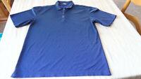Mens Nike Tiger Woods Platinum Black metal button polo shirt Sz Medium M EUC