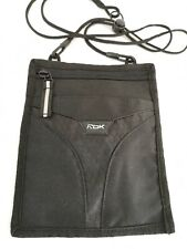 Reebok Black Shoulder Travel Neck Bag Pouch - Passport Wallet
