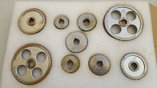 Sieg 9Pc Metric Metal Steel lathe Gear Kit For Sieg C2, C3, SC2, SC3  Mini Lathe