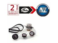 For VW Polo 1.4 85HP -16 Gates Powergrip Timing Cam Belt Kit And Water Pump