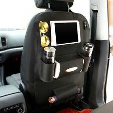 Car Seat Back Bag Organizer Storage iPad Phone Holder black Multi-Pocket Leather