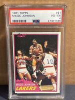 1981 Topps #21 MAGIC JOHNSON PSA 4 LAKERS first solo card 2nd year (not Rookie)