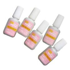 5 x 10G ACRYLIC NAIL ART GLUE FALSE FAKE TIP FRENCH GEL GEM RHINESTONE DIAMANTE
