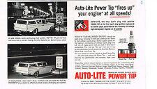 PUBLICITE ADVERTISING    1959   USA   AUTO-LITE   power tip  bougies de voitures