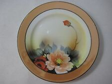 "Early 1900s Noritake Japan Art Nouveau Handpainted Plate, 7 1/2"" Diameter (Rare)"