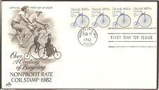 Us Sc #1901 Transportation issue/ Bicycle Fdc. Artcraft Cachet.