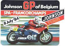 Sticker Autocollant Johnson GP of Belgium Spa Francorchamps 8 July 84 Moto ELF