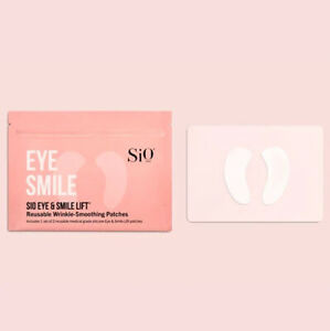 SiO Eye & Smile Lift Wrinkle Smoothing 2 Patches Anti-Aging Reusable Skincare