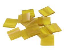 Pale Amber Wispy Border Rectangle | Fusible 96 | Mosaic Glass Tile Shape