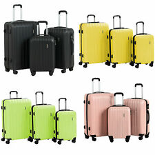 3Pcs Travel Luggage Set Bag ABS Trolley Spinner Suitcase with Lock 20 24 28 inch