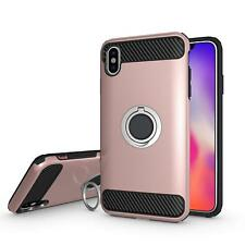 iPhone Ten XS MAX Ring Shockproof Protective Rugged TPU Bumper Back Protection