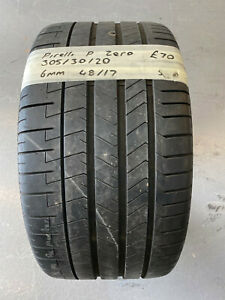 1 X PIRELLI P-ZERO 305/30/20 DOT (48/17) - 6MM (NEW TYRES ONLY 7MM)