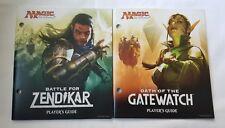 MTG Player's Guide BATTLE FOR ZENDIKAR & OATH OF THE GATEWATCH LOT OF 2