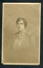 C1910 Photo Card: Portrait View of Young Lady: Taken in Bedford