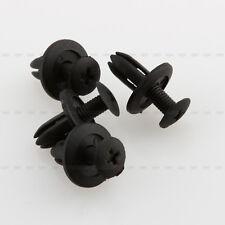 100P 6mm Rivets Plastique Fixation Noir Clips pour auto voiture Pare-boue Porte