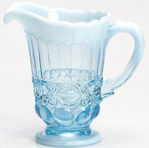Pitcher - Eyewinker - Aqua / Blue Opalescent Glass - Mosser USA