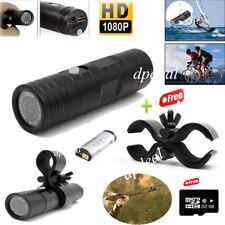 1080P HD 170° Sports DV Camera Waterproof Bike Helmet Action Cam W/Gun Clip+32GB