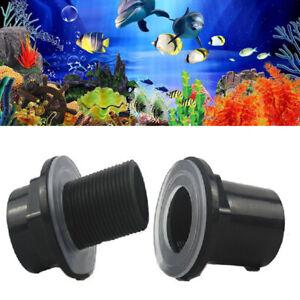 BulkHead To Aquarium Marine Fitting Connector Pipe 20mm/25/32/40/50mm Waterproof