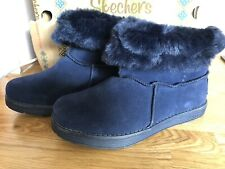 New Blue Suede Skechers Boots Size 3 Eur 36 Rrp £62