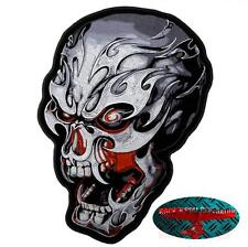 TRIBALE ELETTRONICO TESCHIO Patch Toppa Biker Moto Rocker Harley USA