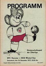 OL 77/78 BFC Dynamo - BSG Wismut Aue, 10.12.1977