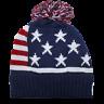 Team USA American Flag POM KNIT Beanie Hat USA STARS AND STRIPES Winter Olympics