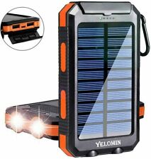 Solar Cell phone Charger,Flashlight Portable Waterproof Mobile Power Bank