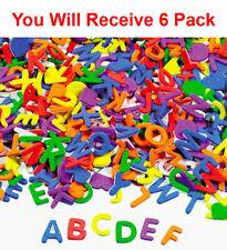"750pc Foam Letter Stickers 1x1.25"" Alphabet ABC Multicolored Kids Art DIY"