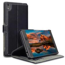Basso profilo sottile PU Pelle Portafoglio Caso Per Sony Xperia XA Ultra-Nero