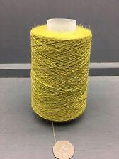 200g CONI 50% SETA 50% lino 22NM fine filo Mostarda Verde Mix e6262