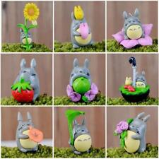 9Pc/Lot Mini Miniature Totoro Figure Craft Plant Pot Fairy Garden Ornament Decor