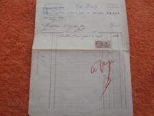 facture MAGASIN Vêtements TAILLEUR Uniformes THE DERBY JULES KLEIN METZ 1928