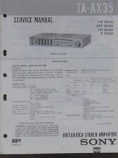 Sony TA-AX35 hifi amplifier service repair workshop manual (original copy)