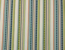 "P Kaufmann Groovin Mambo Stripe Green Blue Multiuse Fabric By The Yard 54""W"