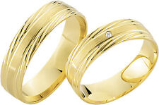 2 x 333 Yellow Gold Wedding Rings Bands Gold Ring Price for one pair Jeweler