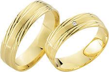 2 x 333 Gelbgold Trauringe Eheringe Gold Ringe Paarpreis Juwelier