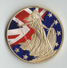 BREXIT Gold Coin Britannia Union Jack European Flag Euro Article 50 Political UK