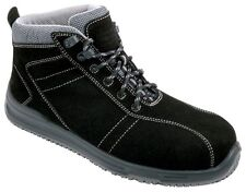 Blackrock Cf04 Safety Work Black Suede Leather BOOTS Trainers Composite Toe Cap UK 11