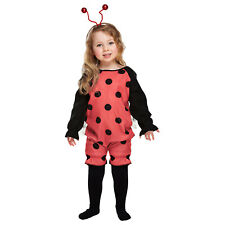 Lady Bug Costume Fancy Dress Outfit Toddler 2-4 Years Child Red Ladybird Cute