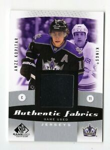 ANZE KOPITAR NHL 2010-11 SP GAME USED AUTHENTIC FABRICS (LOS ANGELES KINGS)