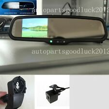"Auto dimming rearview mirror+3.5""reversing display+camera,fit BMW 3,5,7,x1,x5,x6"