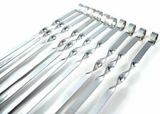 12 x LONG METAL BBQ BARBECUE KEBAB FOOD MEAT GRILL STICKS SKEWERS COOKING