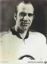 ROGER CROZIER 8X10 PHOTO HOCKEY BUFFALO SABRES NHL PICTURE B/W