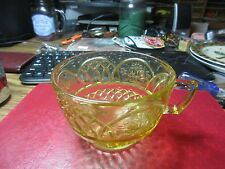 Amber Colored Depression Cup