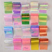 20 Sheets Starry Sky Foils Laser Nail Art Transfer Sticker Glitter Tips Manicure